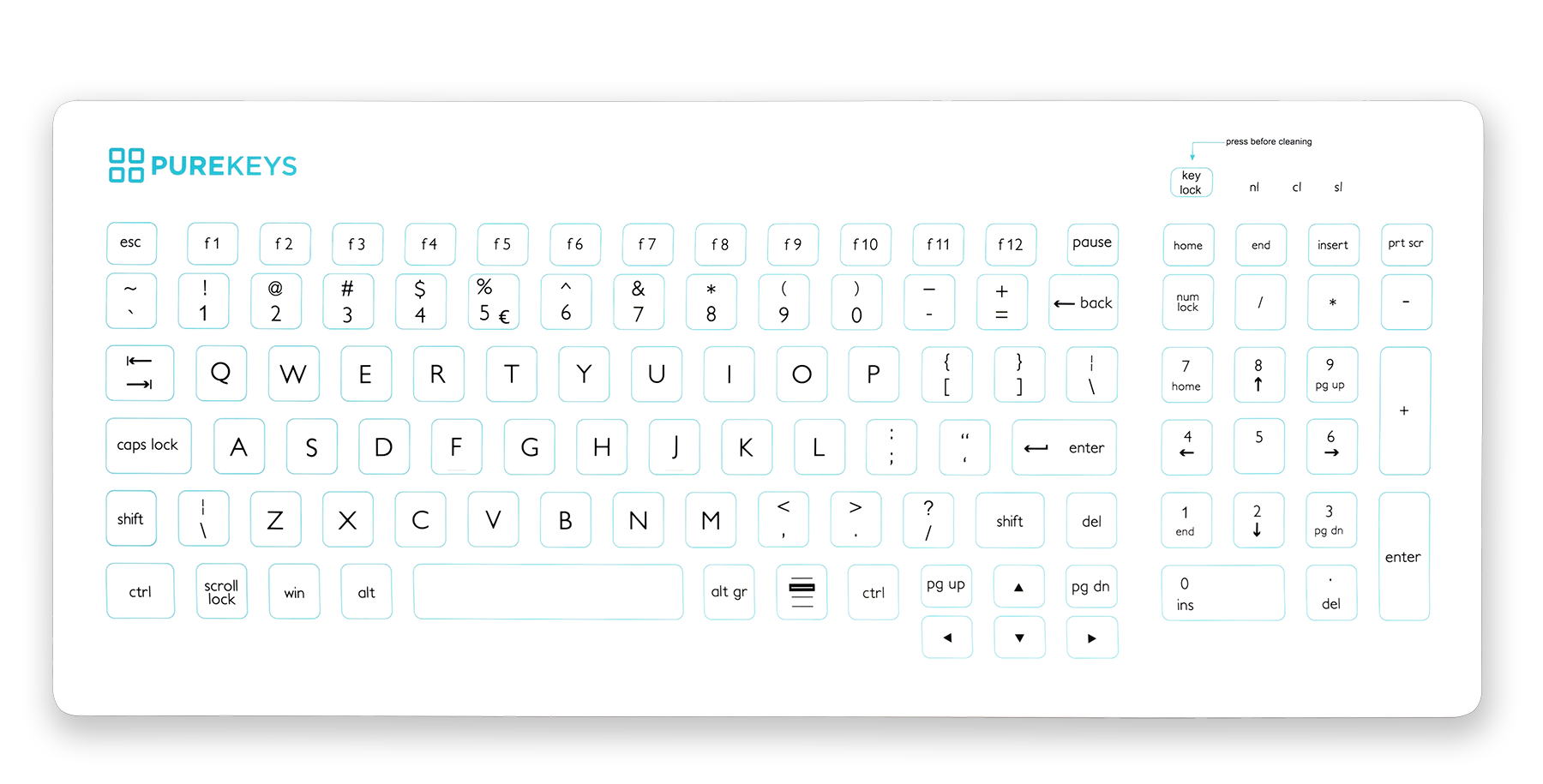 Purekeys Compact FA Keyboard