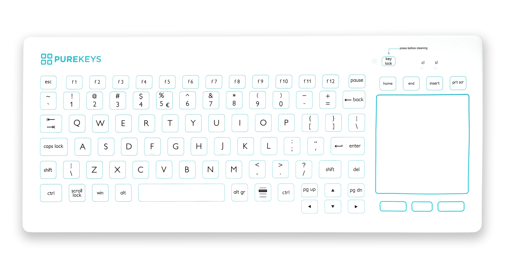 Purekeys Medical Keyboard Touchpad